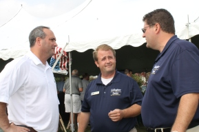 PA Senator Chuck McIlhinney, MIke Gallager and Kyle Davis at Tailgate event 2013