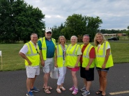 2017 Newtown Republican Candidates. volunteering at Club organized fireworks