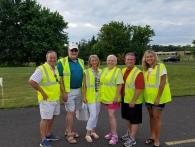 2017 Newtown Republican Candidates. volunteering at Club organized fireworks